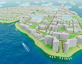 3D asset game-ready Miami - Bay Harbor Islands - Real Copy