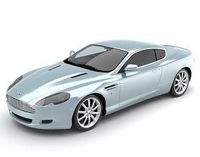 3D Aston Martin DB9 luxury sports coupe