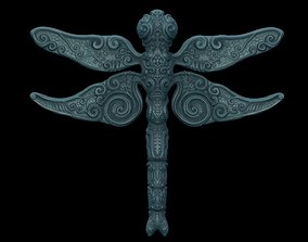 3D print model ornate dragon fly