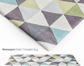 3D model Homespun Green Triangles Rug