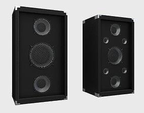 3D model realtime PBR Speaker surround