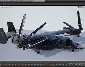 V22 Osprey Tiltrotor Helicopter 3D model animated