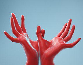 3D Hands Thumb Touching Realistic Hands Model 14