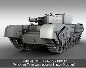 mki Churchill MKIII - AVRE - Petard 3D