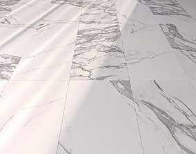 3D model Marble Floor Eternal White Set 4