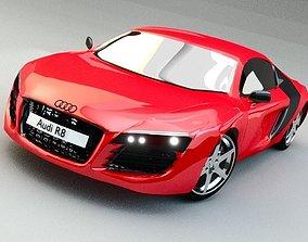 Audi R8 3D model realtime