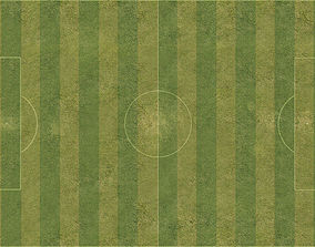 Football pitch with high resolution field 3D asset
