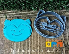 3D print model Pokemon Snorlax Head Cookie Cutter