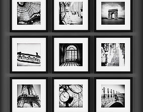abstract Picture Frames 3D model low-poly