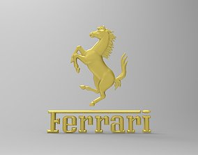Ferrari logo 3d stl model for cnc