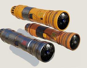 supersonic Turbine 3D models PBR materials