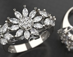 3D printable model Beautiful Marquise Ring