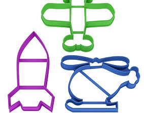 Set For boys Avia cookie cutter for 3D printable model
