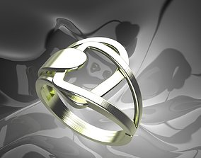 Plain Light Women Ring and 3D printable model