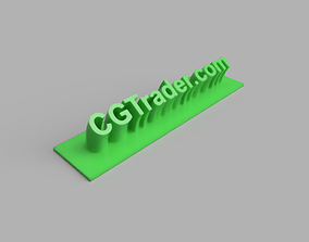 CGTrader on a desk 3D printable model