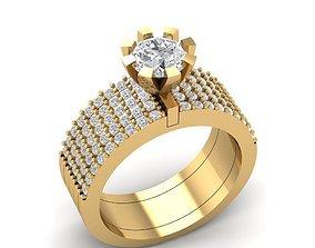 3D print model 83 Multi diamond ring for women
