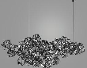 3D Abstract Hexagone Sculptural Chandelier