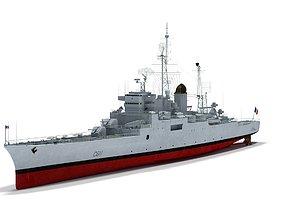 Colbert C611 French cruiser 3D model