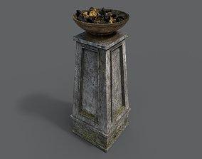 3D model realtime PBR Fire column
