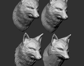 3D printable model Fox Bust - 4 Types STL