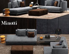 couch 3D model minotti allen sofa
