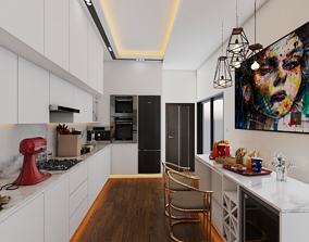 3D RESIDENTIAL KITCHEN VISUALIZATION