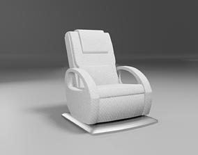 massage wellness chair modern white 3D model