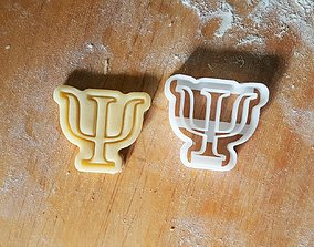 3D print model Psi cookie cutter