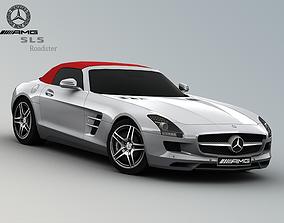 Mercedes Benz SLS AMG Roadster 3D model low-poly