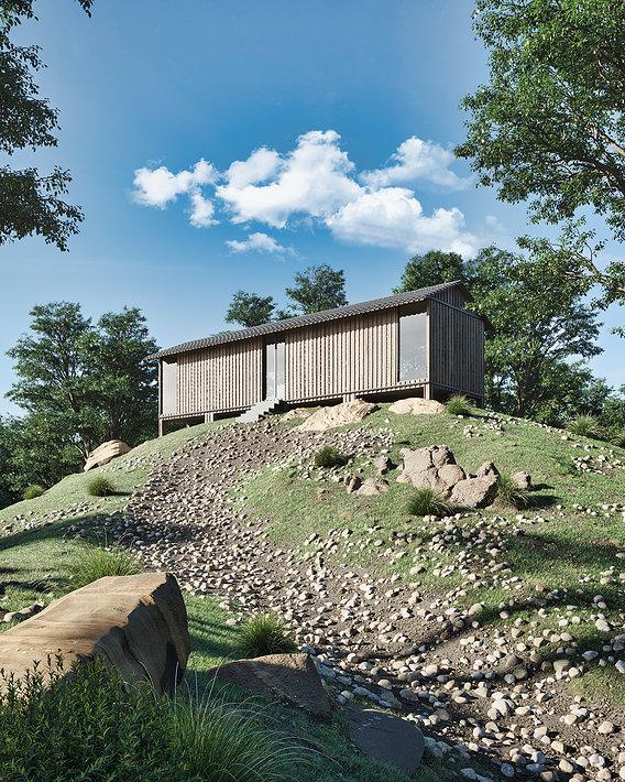 Casa sobre la colina