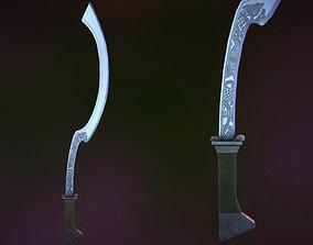 3D model Long Sickle Battle Sword