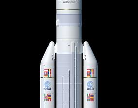 Ariane 5 ECA rocket 3D model