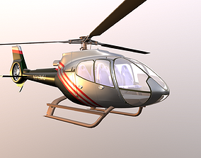Helicopter 3D asset realtime