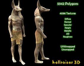 3D asset Egyptian Statue Anubis - PBR - Textured