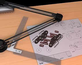 drafting table arm 3D model