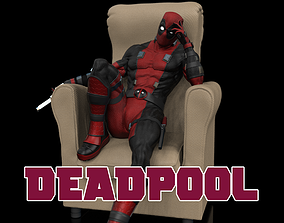 Deadpool Statue deadpool 3D print model