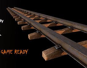 3D asset Old Railway Track2