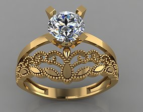GC GOLD TW0153- Diamond ring 3D printable model
