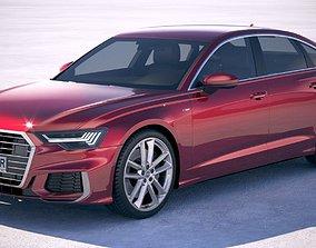 Audi A6 sedan S-Line 2019 3D model
