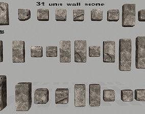 wall stone 3D asset
