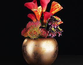 3D model lily Plant 17