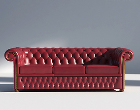 3D model Chesterfiled Sofa 3 Red