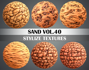 Stylized Sand Vol 40 - Hand Painted Texture Pack 3D asset