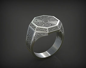 Ring with Labyrinth STL 3D print model