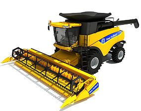 3D model Yellow New Holland Combine