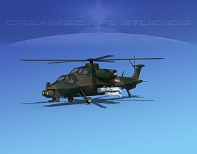 3D model WZ-10 Attack Helicopter V04