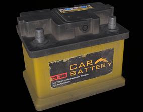 Car Battery 3D model PBR