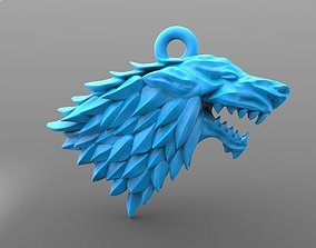 3D print model Game of thrones Stark keychain