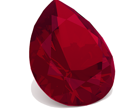 Ruby Gem - Pear Cut other 3D printable model