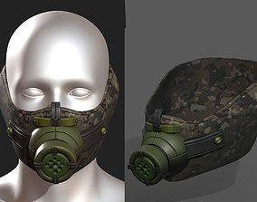 Gas mask respirator scifi futuristic realtime 1